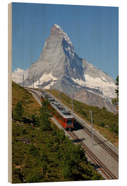 Cuadro de madera  Excursion to the Matterhorn - Hans-Peter Merten