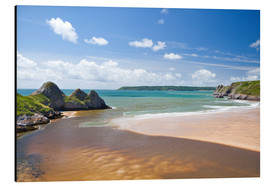 Cuadro de aluminio  Three Cliffs Bay, Gower, Wales, United Kingdom, Europe - Billy Stock