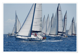 Póster  Sailboat regattas. British Virgin Islands, West Indies, Caribbean, Central America - Jean-Pierre de Mann