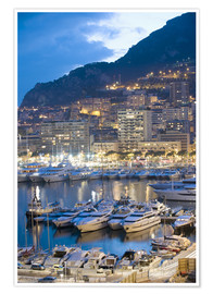 Póster  Harbour in the Port of Monaco, Principality of Monaco, Cote d'Azur, Mediterranean, Europe - Christian Kober
