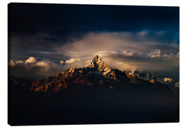 Lienzo  Machapuchare (Machhapuchhre) (Fish Tail) mountain, in the Annapurna Himal of north central Nepal, Ne - Mark Chivers