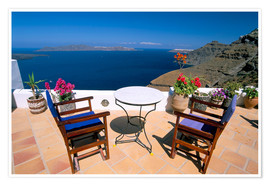 Póster  Fira, island of Santorini (Thira), Cyclades Islands, Aegean, Greek Islands, Greece, Europe - Sergio Pitamitz