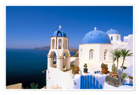 Póster  Oia (Ia), island of Santorini (Thira), Cyclades Islands, Aegean, Greek Islands, Greece, Europe - Sergio Pitamitz