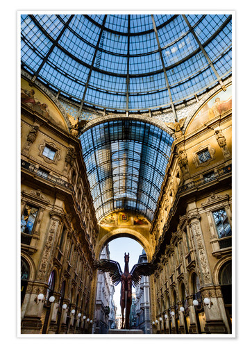 Póster Galleria Vittorio Emanuele II, Milan, Lombardy, Italy, Europe