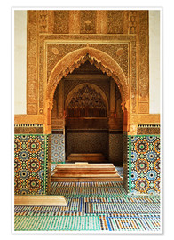 Póster Saadian Tombs, Medina, Marrakesh, Morocco, North Africa, Africa