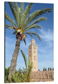 Cuadro de aluminio  Minaret of the Koutoubia Mosque, UNESCO World Heritage Site, Marrakech, Morocco, North Africa, Afric - Nico Tondini