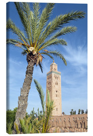Lienzo  Minaret of the Koutoubia Mosque, UNESCO World Heritage Site, Marrakech, Morocco, North Africa, Afric - Nico Tondini