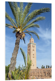 Cuadro de PVC  Minaret of the Koutoubia Mosque, UNESCO World Heritage Site, Marrakech, Morocco, North Africa, Afric - Nico Tondini