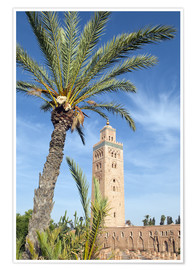 Póster Minaret of the Koutoubia Mosque, UNESCO World Heritage Site, Marrakech, Morocco, North Africa, Afric