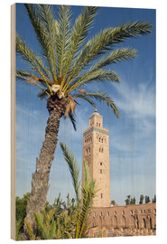 Cuadro de madera  Minaret of the Koutoubia Mosque, UNESCO World Heritage Site, Marrakech, Morocco, North Africa, Afric - Nico Tondini