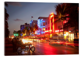 Cuadro de metacrilato  Ocean Drive, South Beach, Art Deco district, Miami Beach, Miami, Florida, United States of America, - Angelo Cavalli