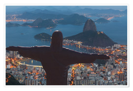 Póster Christ the Redeemer, Corcovado