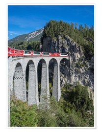 Póster Landwasser Viadukt, Filisur, Graubunden, Swiss Alps, Switzerland, Europe