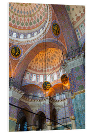 Cuadro de PVC  Yeni Mosque, Eminonu and Bazaar District, Istanbul, Turkey, Europe - Richard Cummins