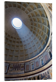 Cuadro de metacrilato  A shaft of light through the dome of the Pantheon, UNESCO World Heritage Site, Rome, Lazio, Italy, E - Martin Child