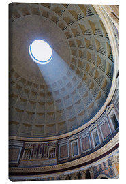 Lienzo  A shaft of light through the dome of the Pantheon, UNESCO World Heritage Site, Rome, Lazio, Italy, E - Martin Child