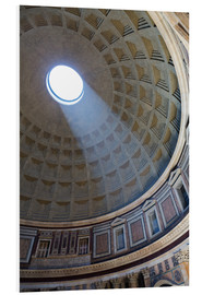 Forex  A shaft of light through the dome of the Pantheon, UNESCO World Heritage Site, Rome, Lazio, Italy, E - Martin Child