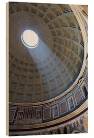 Cuadro de madera  A shaft of light through the dome of the Pantheon, UNESCO World Heritage Site, Rome, Lazio, Italy, E - Martin Child