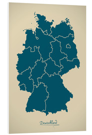 Cuadro de PVC  Modern map of Germany Artwork Design - Ingo Menhard