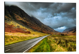 Cuadro de aluminio  Road in Glencoe, Scotland - David Wogan