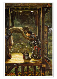 Póster  The Merciful Knight - Edward Burne-Jones