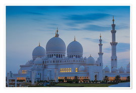 Póster  Sheikh Zayed Grand Mosque - Jane Sweeney