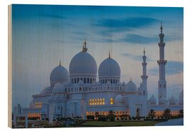 Cuadro de madera  Sheikh Zayed Grand Mosque - Jane Sweeney