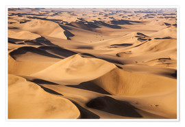 Póster Aerial view of the dunes of the Namib Desert, Namibia, Africa