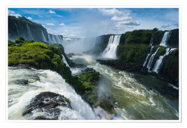 Póster Foz de Iguazu (Iguacu Falls), the largest waterfalls in the world, Iguacu National Park, UNESCO Worl