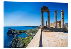 Metacrilato  Acropolis of Lindos, Rhodes, Dodecanese Islands, Greek Islands, Greece, Europe - Michael Runkel