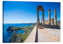 Lienzo  Acropolis of Lindos, Rhodes, Dodecanese Islands, Greek Islands, Greece, Europe - Michael Runkel