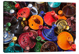 Lienzo  Colourful tajines, Essaouira, Atlantic coast, Morocco, North Africa, Africa - Stuart Black