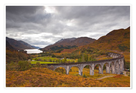 Póster Glenfinnan Viaduct in the Scottish Highlands