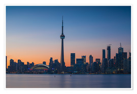 Póster  View of CN Tower and city skyline, Toronto, Ontario, Canada, North America - Jane Sweeney