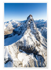 Póster  The unique shape of the Matterhorn - Roberto Sysa Moiola
