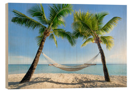 Jan Christopher Becke - Hammock at the beach with palm trees in the south pacific
