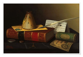 Póster Still life with a writing table
