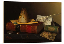 Cuadro de madera  Still life with a writing table - William Michael Harnett