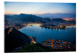 Cuadro de metacrilato  View from the Sugarloaf at sunset, Rio de Janeiro, Brazil, South America - Michael Runkel