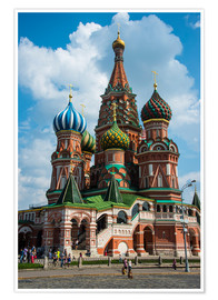 Póster  St. Basil's Cathedral, Moscow - Michael Runkel