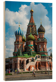 Cuadro de madera  St. Basil's Cathedral, Moscow - Michael Runkel