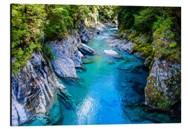 Cuadro de aluminio  The stunning Blue Pools, Haast Pass, South Island, New Zealand - Michael Runkel