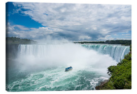 Lienzo  Tourist boat in the mist of the Horseshoe Falls (Canadian Falls), Niagara Falls, Ontario, Canada, No - Michael Runkel