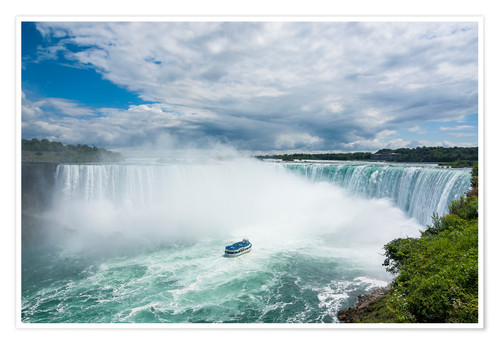Póster Tourist boat in the mist of the Horseshoe Falls (Canadian Falls), Niagara Falls, Ontario, Canada, No