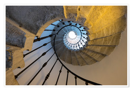 Carlo Morucchio - Spiral marble staircase at the Patriarchal Seminary of Venice, UNESCO World Heritage Site, Veneto, I