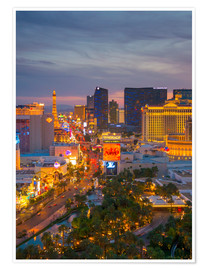 Póster  The Strip, Las Vegas, Nevada, United States of America, North America - Alan Copson