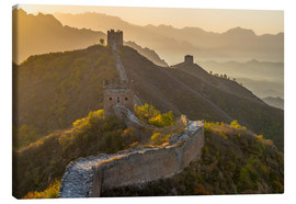 Lienzo  Great Wall of China, UNESCO World Heritage Site, dating from the Ming Dynasty, section looking towar - Alan Copson