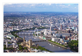 Póster  Aerial view of the Houses of Parliament - Peter Barritt