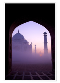 Póster Taj Mahal at sunrise