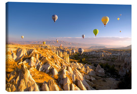 Lienzo  Hot air balloons over Cappadocia - David Clapp